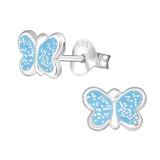Butterfly - 925 Sterling Silver Kids Ear Studs PCJW19799