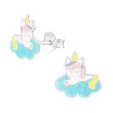 Unicorn - 925 Sterling Silver Kids Ear Studs PCJW38740