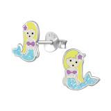 Mermaid - 925 Sterling Silver Kids Ear Studs PCJW39391
